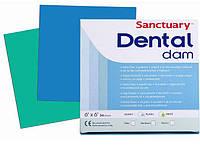 """Платки коффердама """"Dental Dam"""" Sanctuary (зеленые, синие, черные)"""