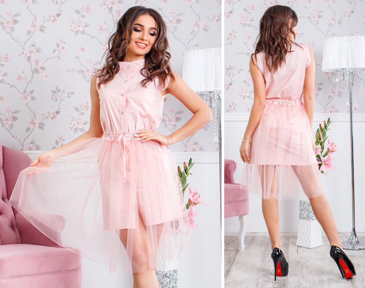 f0e7016fc54 Платье рубашка с фатином - eleganza.com.ua в Одессе