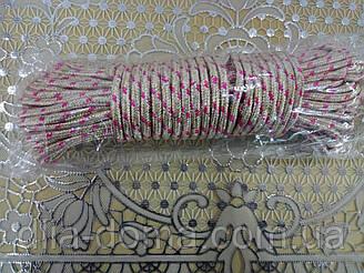 Веревка бельевая  в текстильной оплетке 20 метров