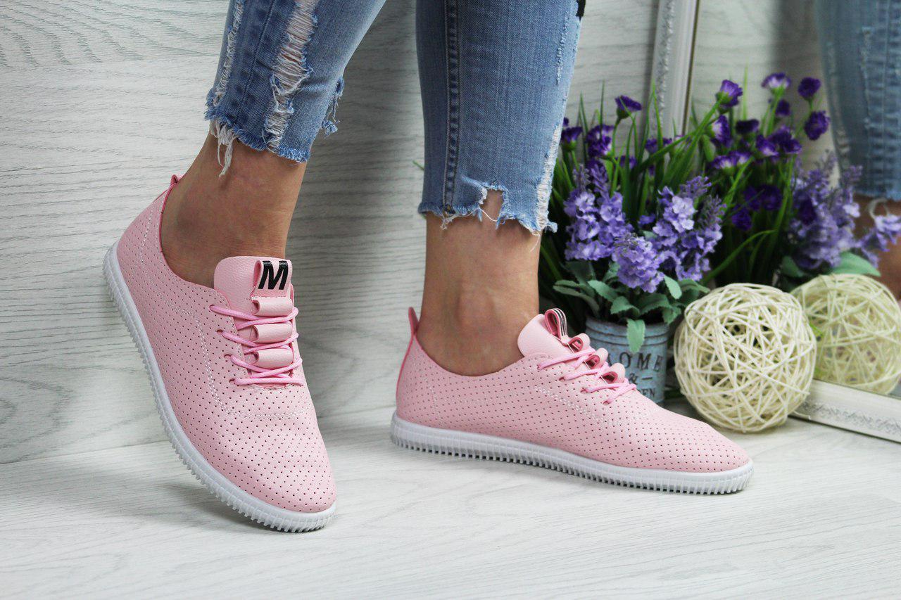 Женские мокасины (розовые),  ТОП-реплика