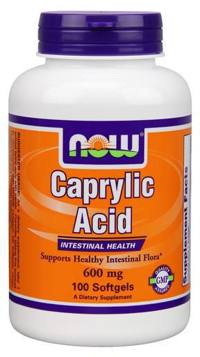 NOW Foods Caprilic Acid 600mg 100 softgels