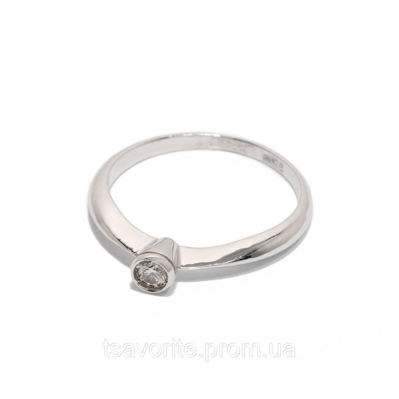 Золотое кольцо с бриллиантом 2231515
