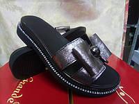 Стильные женские кожаные сабо-шлёпанцы Terra Grande, фото 1
