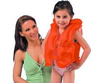 58671 Жилет надувной от 3-6 лет 50*47см , Надувной жилет c 3 отсеками, Жилет надувной для плавания детский
