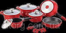 Набор посуды Royalty Line RL ES-1014M red
