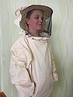 Куртка пчеловода бязь суровая с маской класикой, фото 1