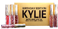Набор жидких помад Matte Liquid Lipstick Kylie Birthday Edition 6цветов #B/E
