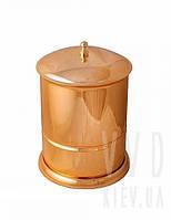 Ведро для мусора 5л с крышкой (золото)