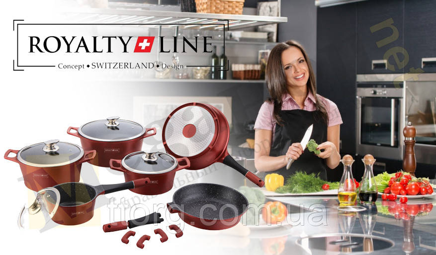 Набор посуды Royalty Line ES-1015M burgundi