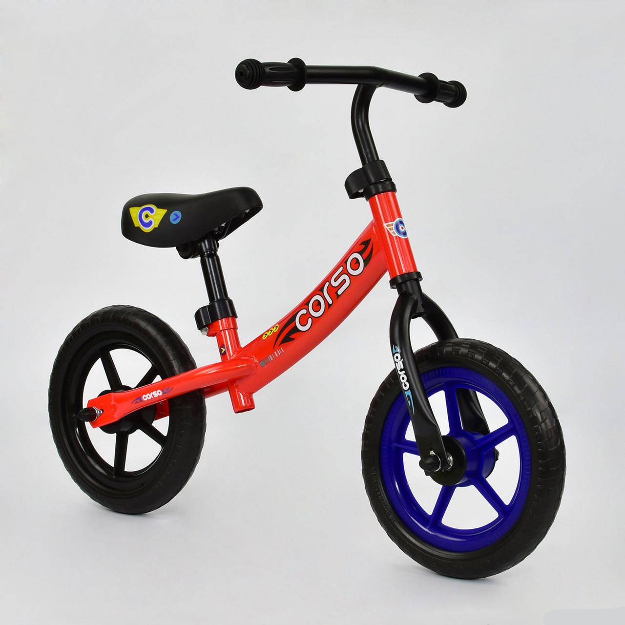 """Велобег """"CORSO"""" С-7890 , красный, стальная рама, колесо 12"""" EVA (ПЕНА)"""