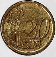Монета Австрии 20 евроцентов 2002 г.