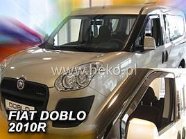 Дефлекторы окон (ветровики)  FIAT DOBLO - 2010r.→(HEKO)