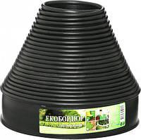 """Садовый бордюр """"Екобордюр"""" Оптимальный (20м) чёрный ТИП 2, бордюрная лента для клумб"""