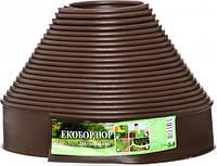 """Садовый бордюр """"Екобордюр"""" Оптимальный (20м) зелёный,коричневый"""