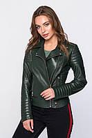 Кожанная куртка 7038 (болотная)