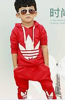 Червоний спортивний костюм Adidas для хлопчиків