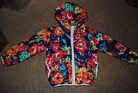 Курточка міжсезонна для дівчаток з квіточками