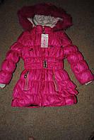 Пальто зимове для дівчаток рожеве