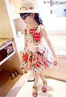 Сукня дитяча з квіточками та бантиком