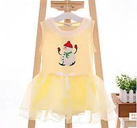 Сукня дитяча зі сніговиком жовта