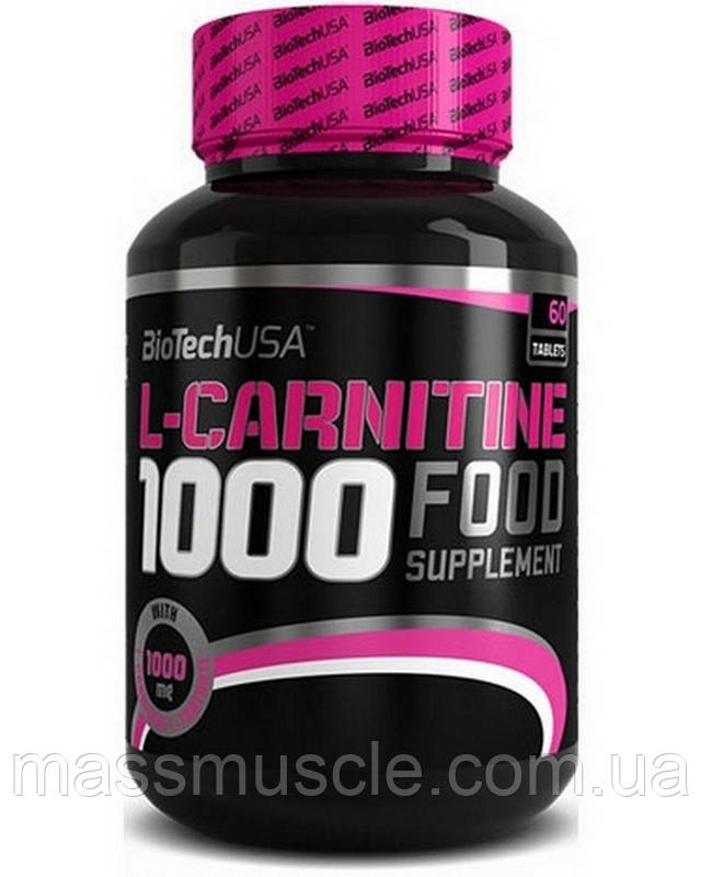 Жиросжигатель BioTech USA L-Carnitine 1000 mg 60 tabs