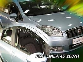 Дефлекторы окон (ветровики)  FIAT LINEA - 4D 2007R →(HEKO)