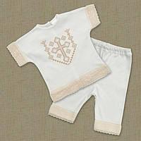 """Летний Крестильный костюм для девочки """"Ангел"""" белый, молочный - Размер 56,62,68,74"""