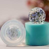 Силиконовый молд на гранёный усеченный шарик  (D-20мм)