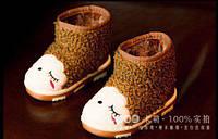 Черевички дитячі коричневі з хутром 7030