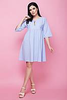 Модное женское льняное летнее платье с рукавами клеш 7035/1, фото 1