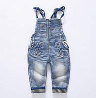 Комбінезон дитячий джинсовий синій 9024