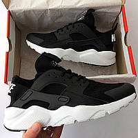 Кроссовки мужские и женские Nike AIR HUARACHE Black/ White (реплика люкс класса 1:1)