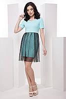 Молодёжное женское платье-футболка с юбкой-сеткой 7036 , фото 1