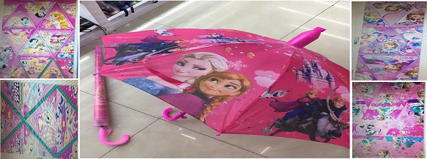 Зонт с пластиковым складным чехлом, в пакете