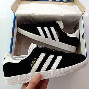 Женские кроссовки в стиле Adidas Gazelle Black (36, 37, 38, 39, 40 размеры), фото 2