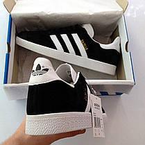 Женские кроссовки в стиле Adidas Gazelle Black (36, 37, 38, 39, 40 размеры), фото 3