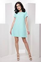 Комфортное женское платье в стиле casual с жемчужинами 7037/1, фото 1