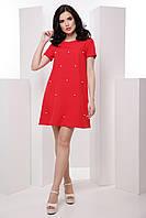 Комфортное женское платье в стиле casual с жемчужинами 7037/3, фото 1
