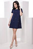 Комфортное женское платье в стиле casual с жемчужинами 7037/4, фото 1