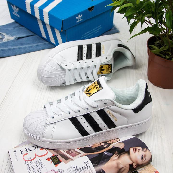 Женские кроссовки в стиле Adidas Superstar  (36, 37, 38, 39, 40 размеры)