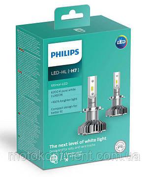 H7 LED для фар на ближний/дальний Philips Ultinon LED H7 НА 160% БОЛЬШЕ СВЕТА НА ДОРОГЕ 11972ULWX2, фото 2