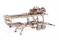 WT механический 3D пазл Прицеп Автовоз (229 деталей), фото 1