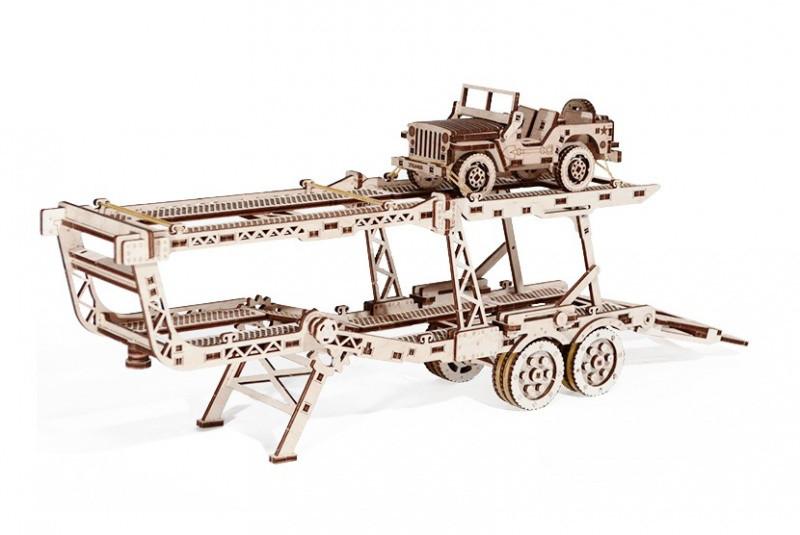 WT механический 3D пазл Прицеп Автовоз (229 деталей)