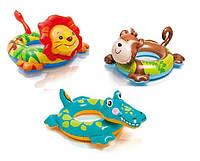58221 Надувной круг 71*56см животные 3в.от 3 до 6 лет, Детский круг для плавания, Круг плавательный детский
