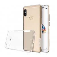 Прозрачный силиконовый чехол Nillkin Nature TPU case для Xiaomi Redmi Note 5 Pro (Clear White)