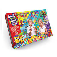 Big Creative Box 4 в 1 Большой Креативный Подарок 4в1 Тесто Масса Пластилин Кинетический песок