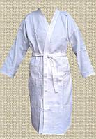 Халат женский кимоно Nostra белый вафельный L