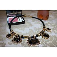 Подвеска 5 Black Stones Fashion Jewelry #B/E
