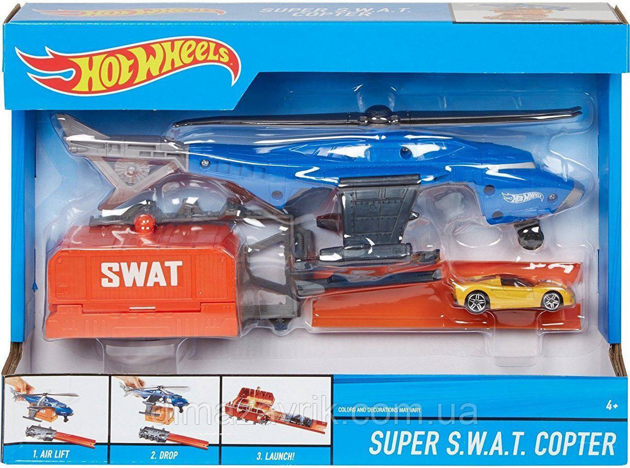 """Игровой набор """"Вертолет SWAT спецназ"""" Hot Wheels (FDW70)"""
