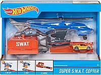 """Игровой набор """"Вертолет SWAT спецназ"""" Hot Wheels (FDW70), фото 1"""